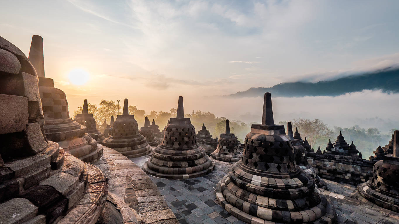 The largest Buddhist temple in the world was once buried under a forest in Java