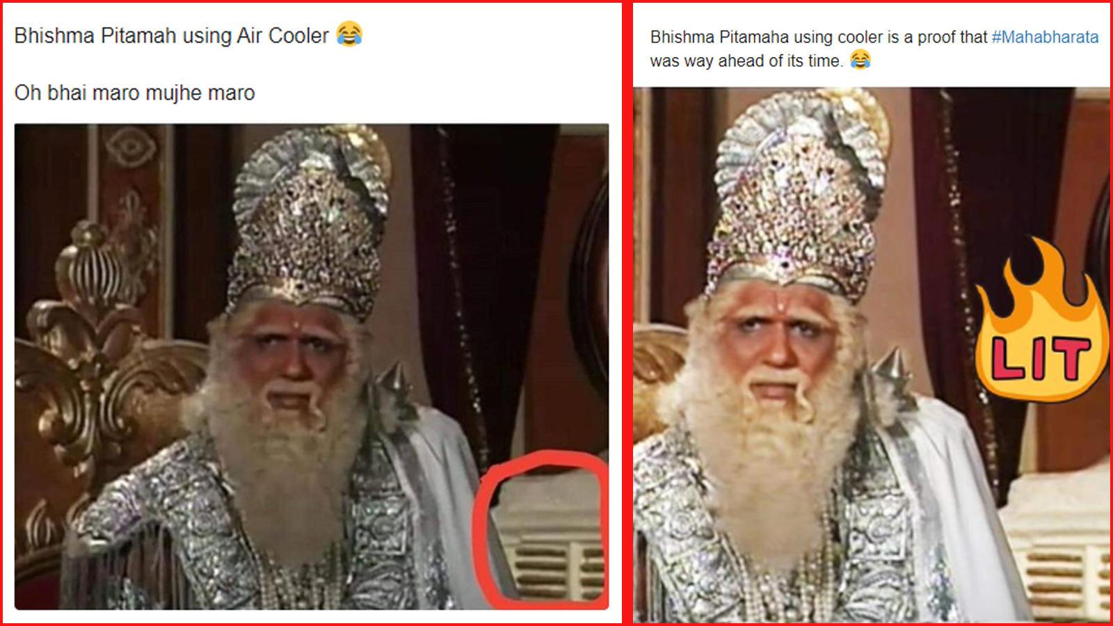 Fans Spot Cooler Behind Bhishma Pitamah Aka Mukesh Khanna In Mahabharat Hindi Movie News Bollywood Times Of India