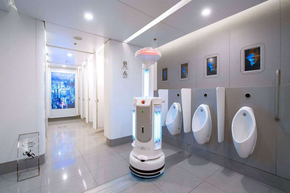 Future of air travel: Hong Kong airport tests full-body disinfectant booth