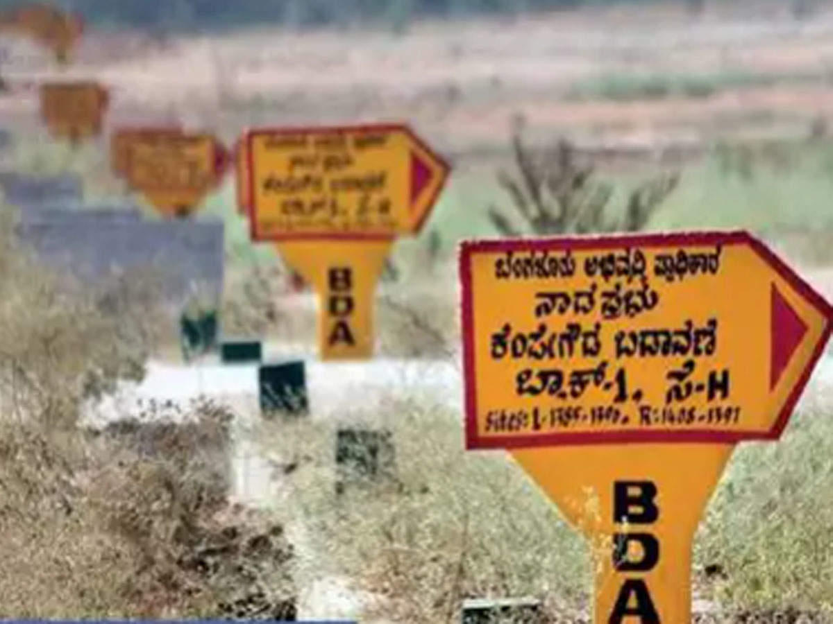 Bda To Start Auctioning 12 500 Sites From June Bengaluru News Times Of India
