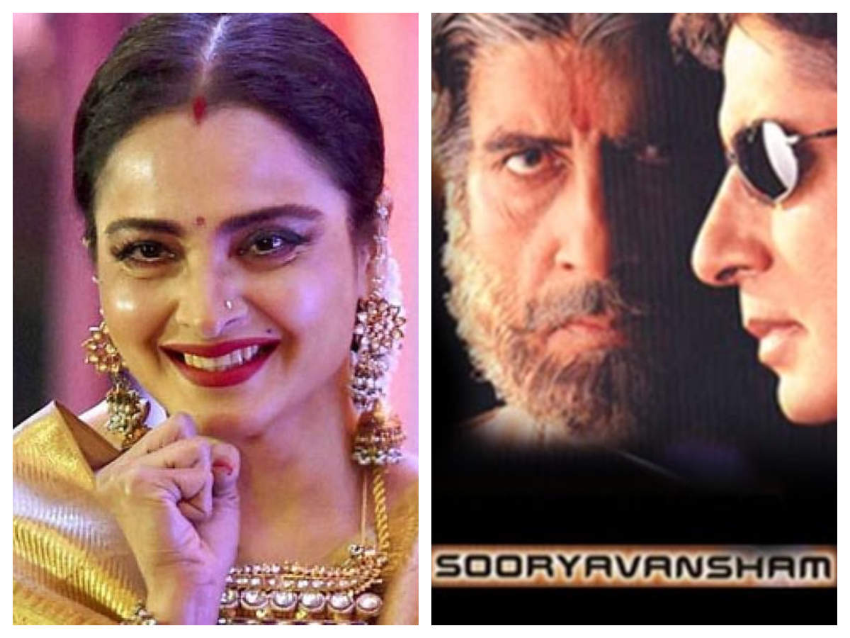 Did you know that Rekha dubbed for actresses who played Amitabh Bachchan wives in  Sooryavansham ? | Hindi Movie News