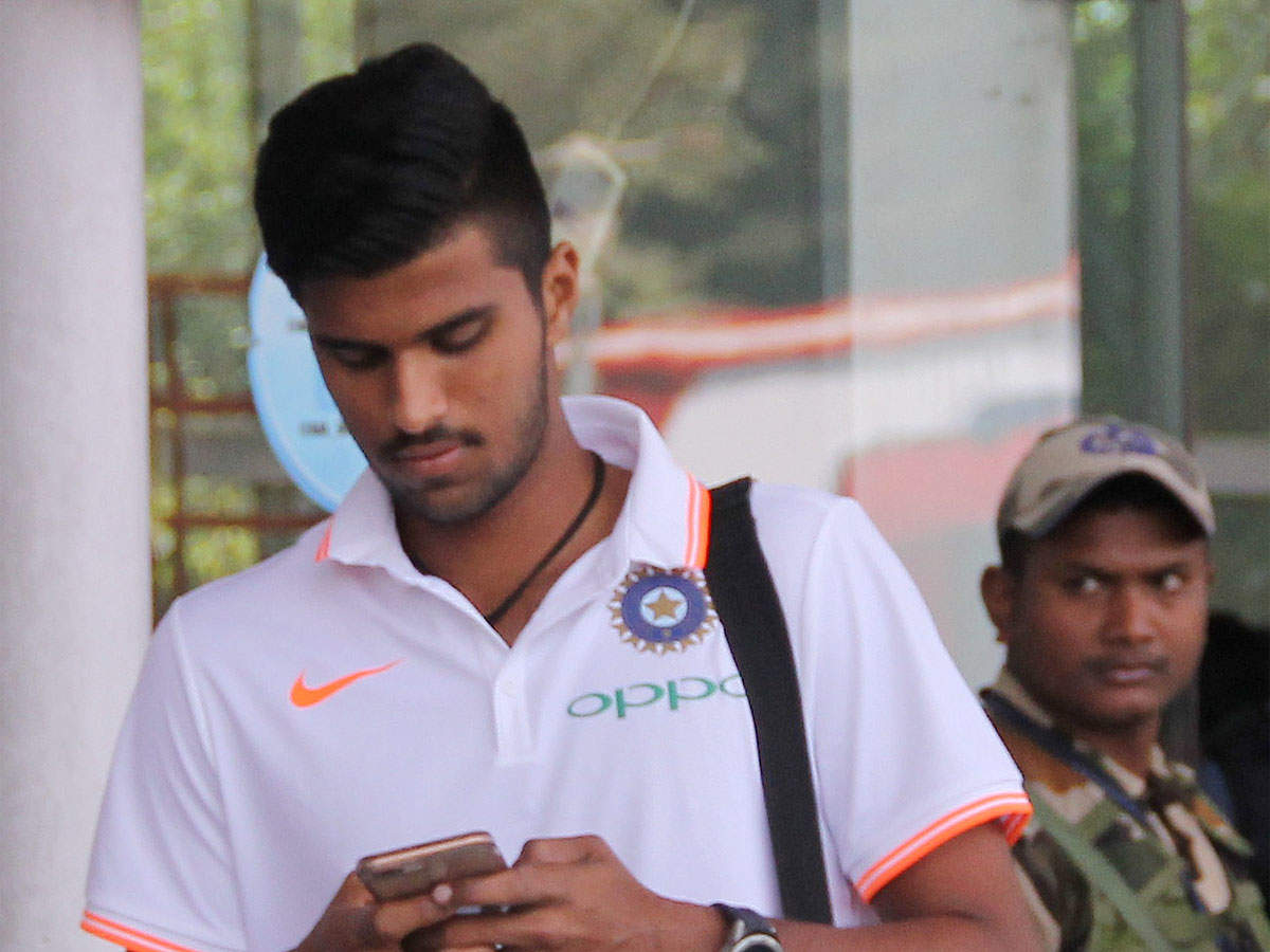 Washington Sundar Takes Up Yoga Seriously During Lockdown Off The Field News Times Of India