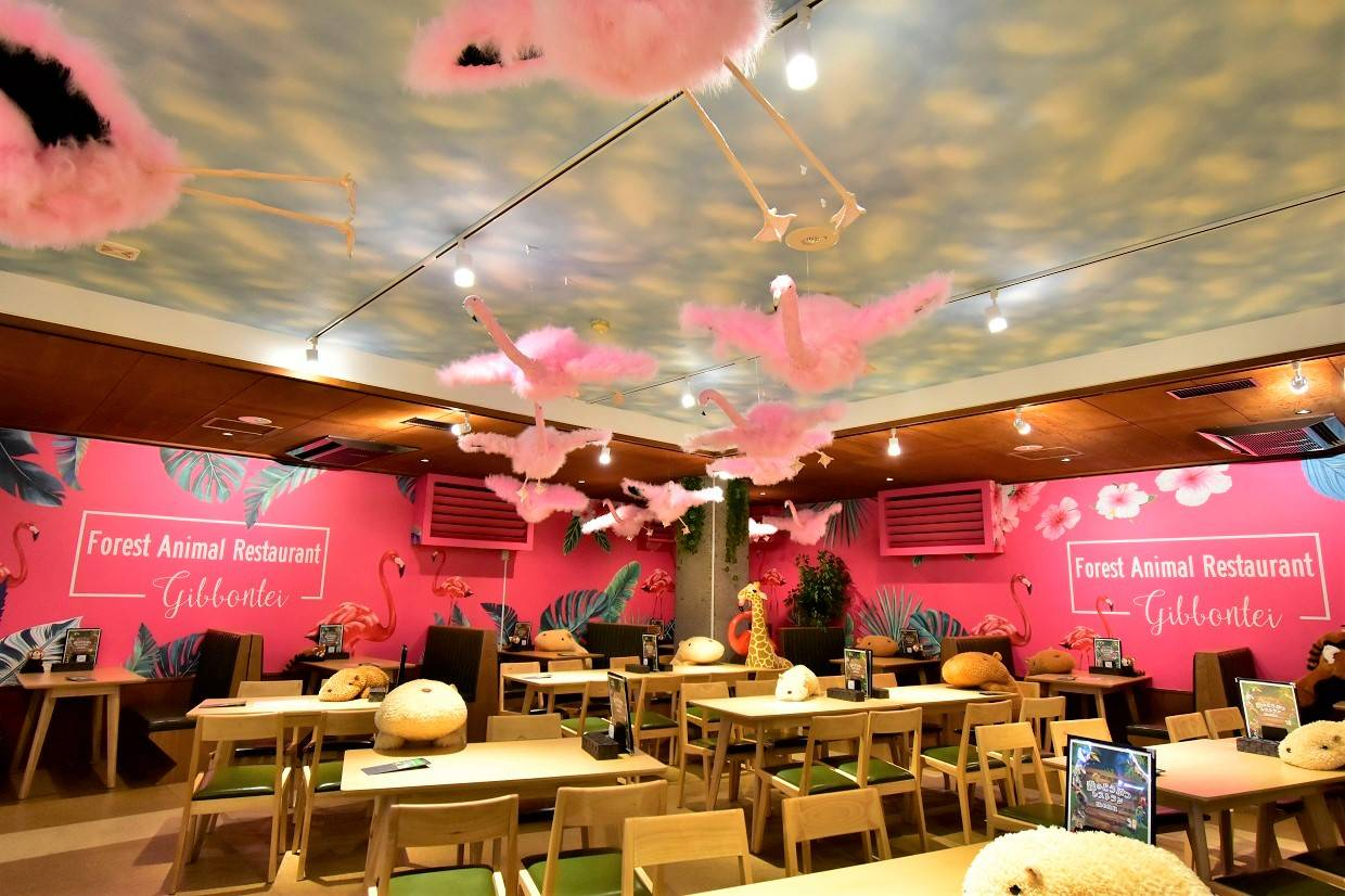 Dine with stuffed animals on your table at this Japanese zoo restaurant