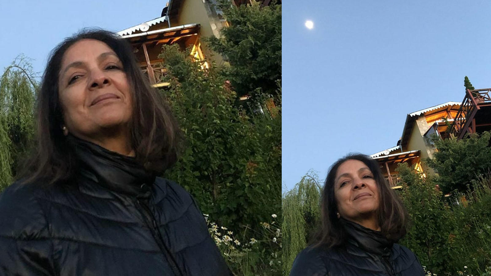 main-mera-ghar-aur-chand-neena-gupta-shares-a-pretty-selfie-against-her-house-in-mukteshwar