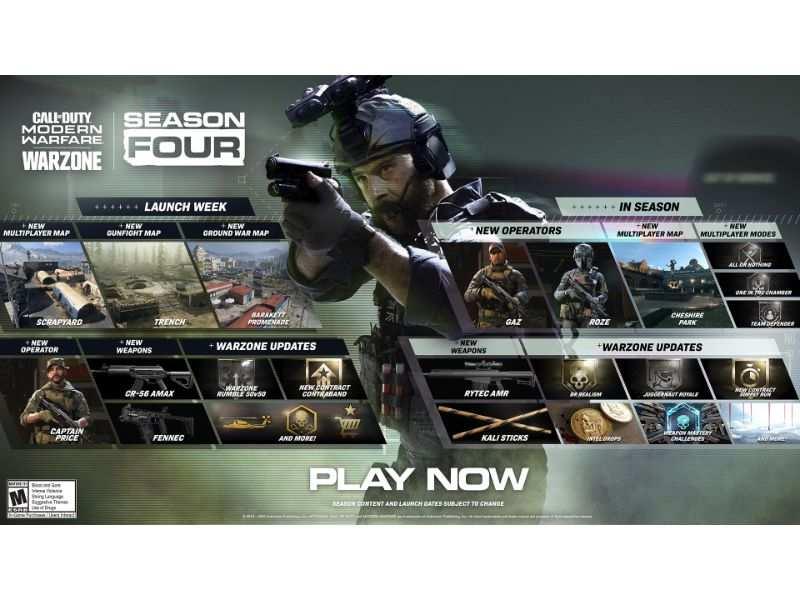 Cod Season 4 Update Call Of Duty Modern Warfare And Warzone