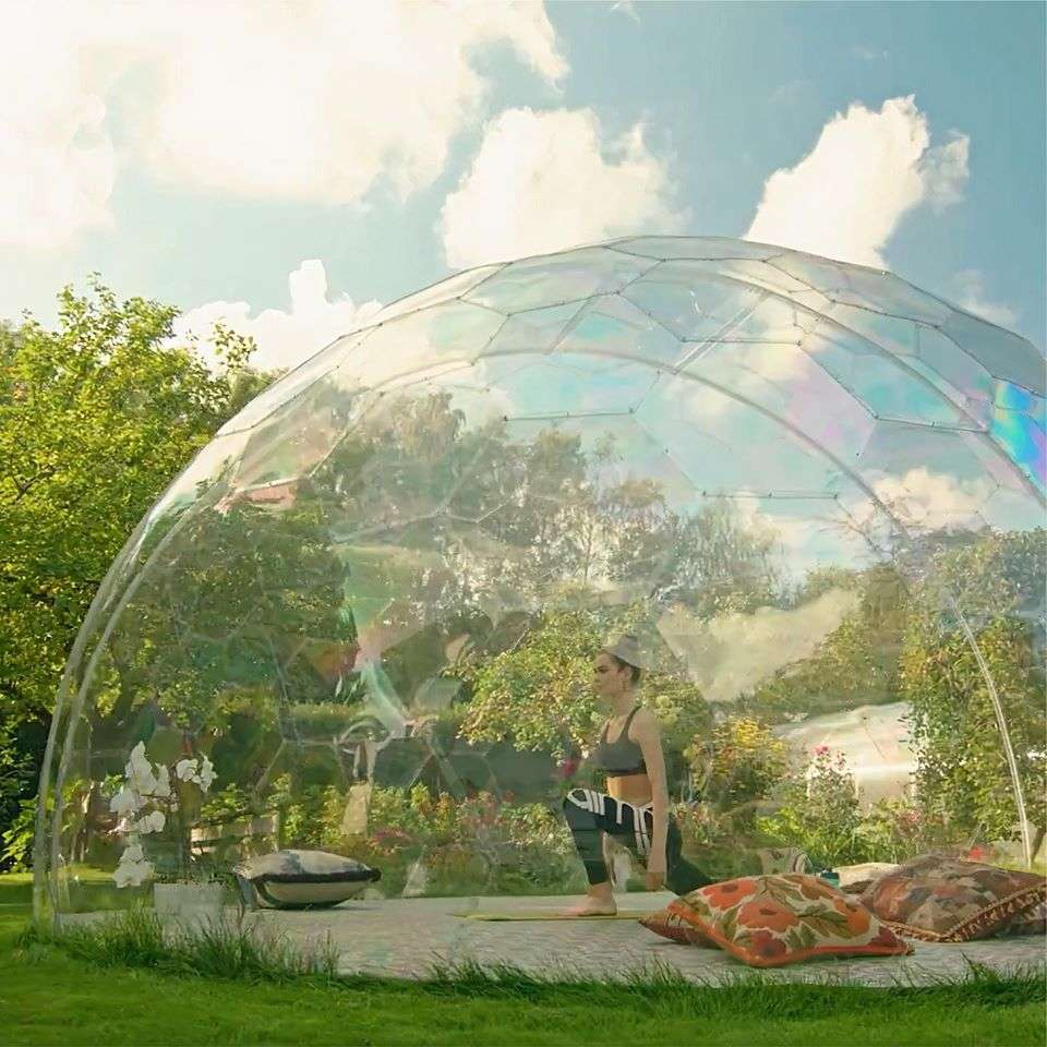 Practice yoga in a bubble in Toronto