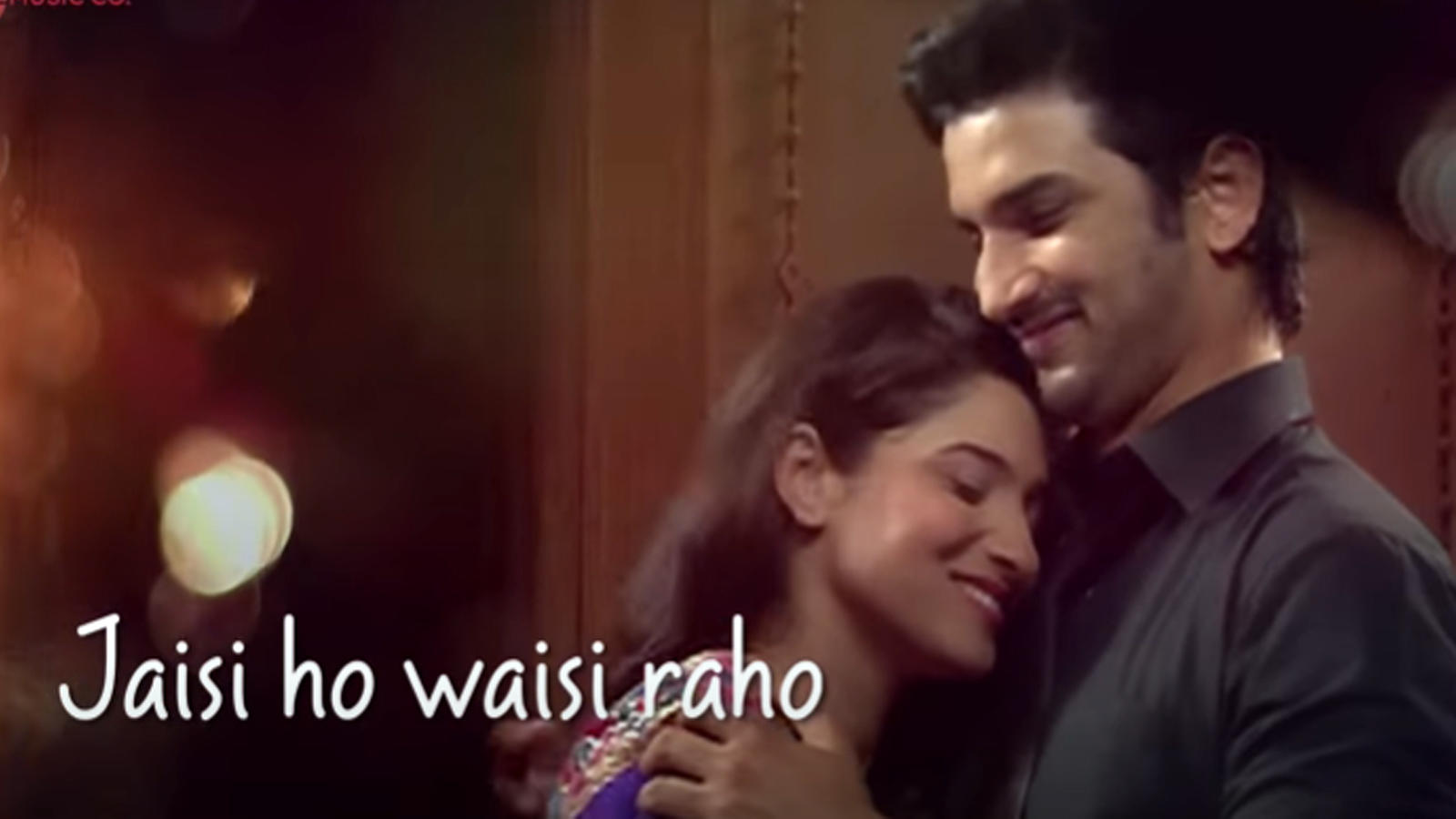this-romantic-song-featuring-sushant-singh-rajput-and-ankita-lokhande-titled-jaisi-ho-waisi-raho-never-got-released
