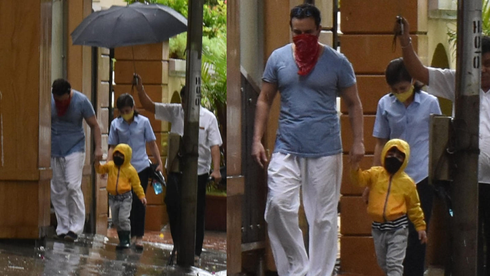saif-ali-khan-and-son-taimur-ali-khan-enjoy-a-walk-in-mumbai-rain-tim-tim-has-our-full-attention-donning-a-super-cute-yellow-raincoat