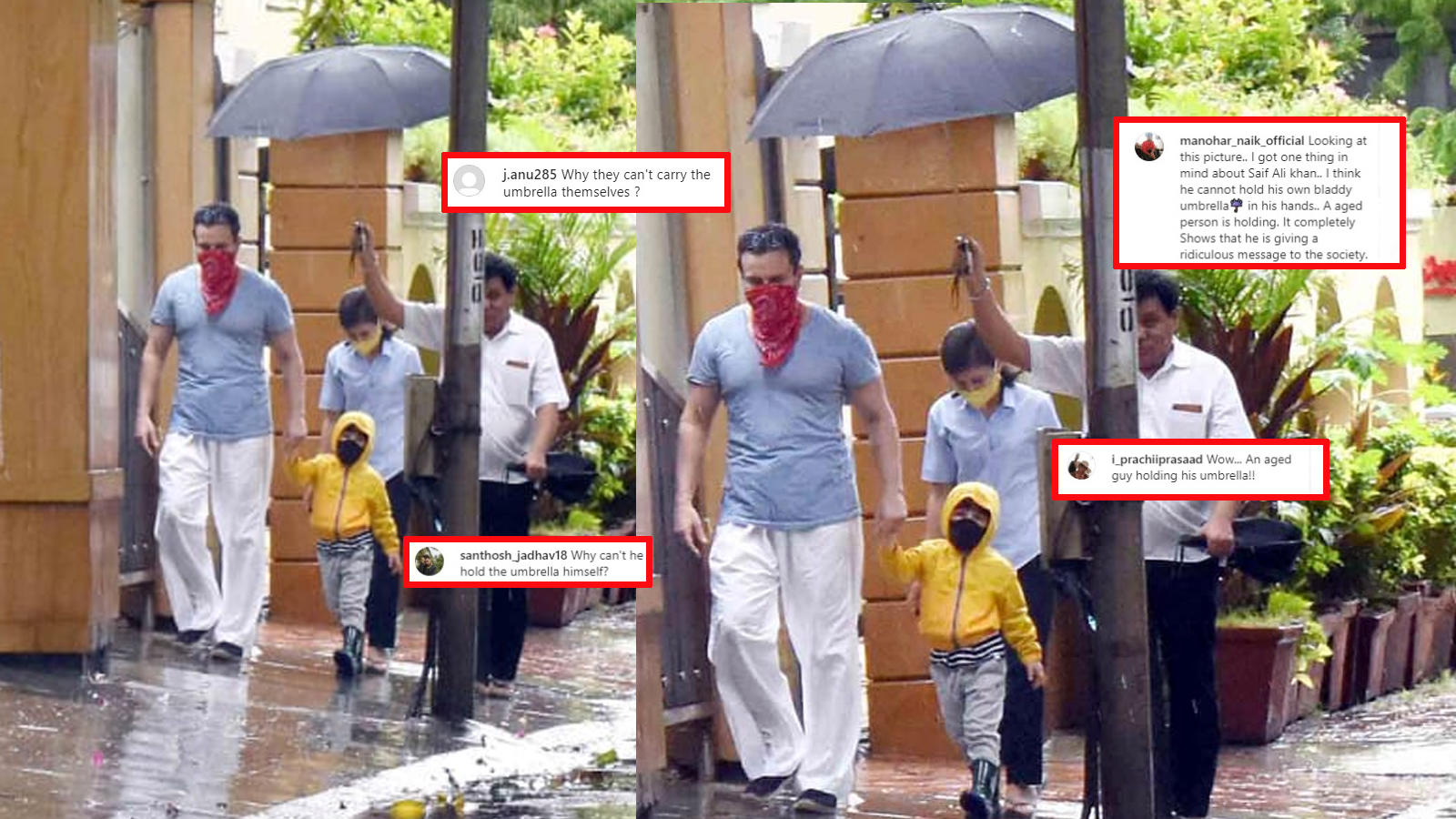saif-ali-khan-gets-trolled-for-not-holding-his-own-umbrella-as-he-steps-out-in-rain-with-son-taimur
