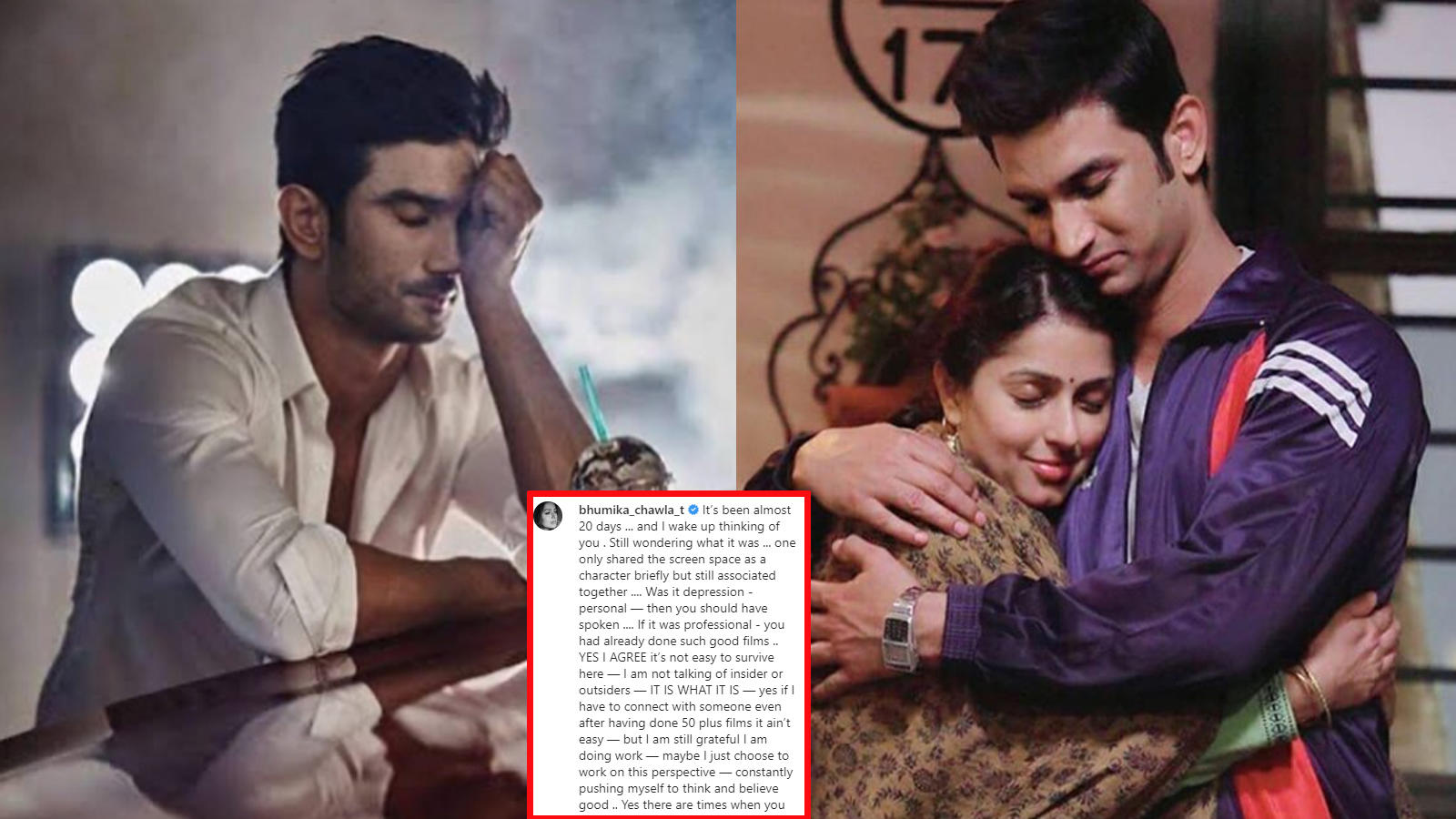 sushant-singh-rajputs-reel-life-sister-in-ms-dhoni-the-untold-story-bhumika-chawla-writes-i-wake-up-thinking-of-you-still-wondering-what-it-was