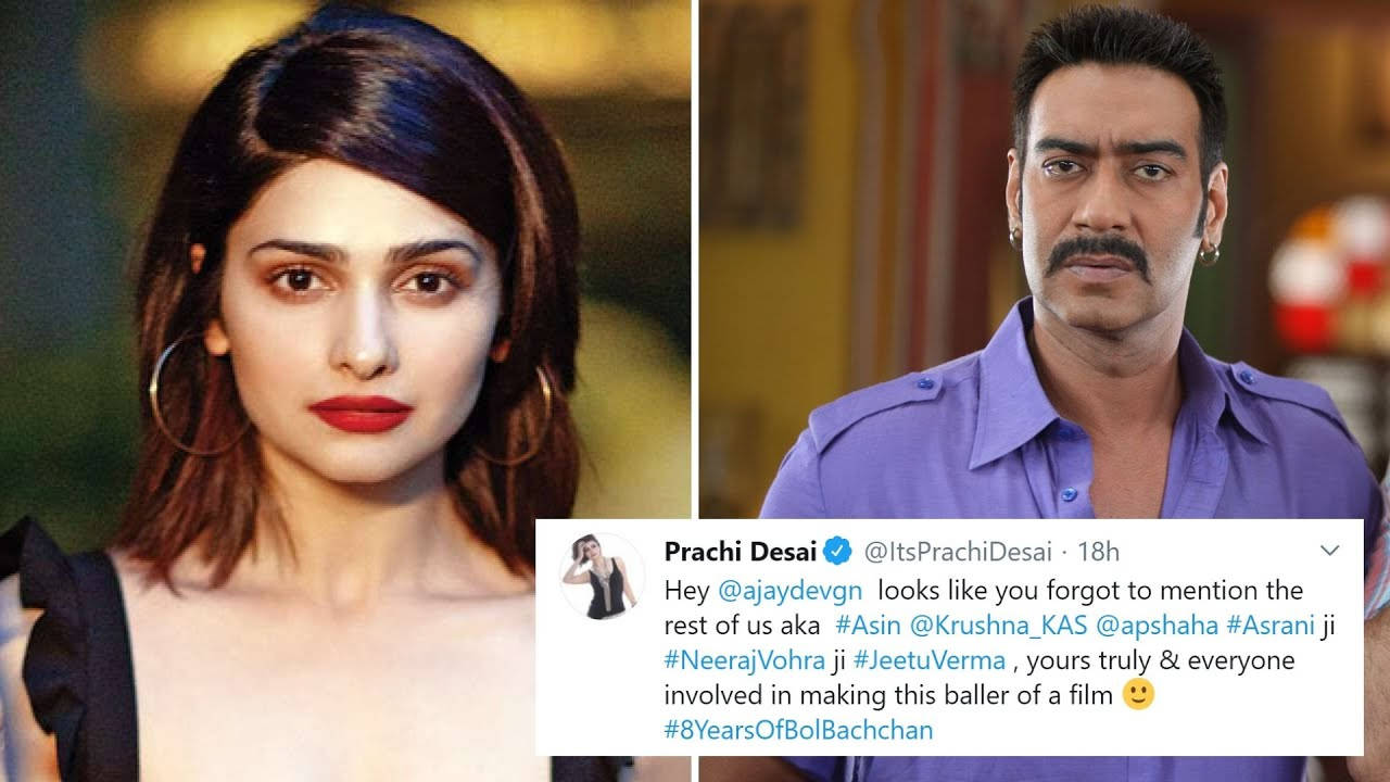 prachi-desai-trolls-ajay-devgn-for-not-mentioning-rest-of-the-team-in-his-tweet-for-bol-bachchan