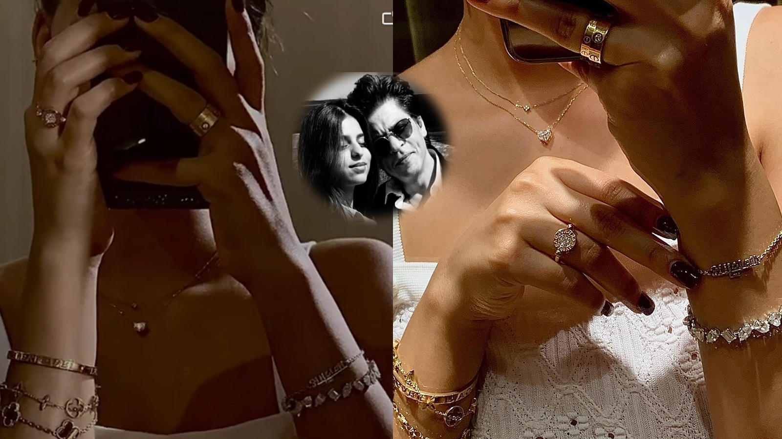 shah-rukh-khans-darling-daughter-suhana-khan-flaunts-her-diamond-rings-and-bracelet-navya-naveli-nanda-and-shanaya-kapoor-compliment-her