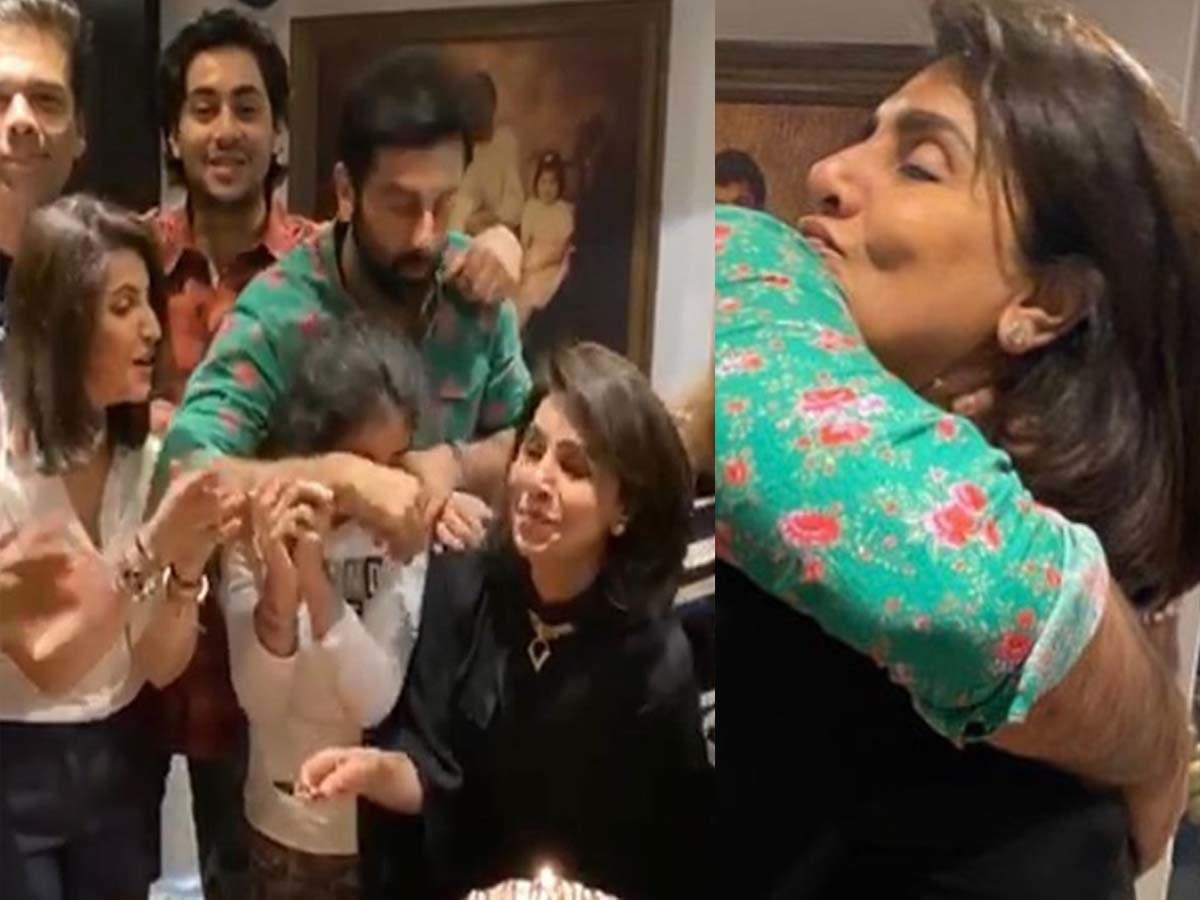 Neetu Kapoor shares pictures from her birthday celebrations featuring Ranbir Kapoor and Karan Johar! | Hindi Movie News - Times of India