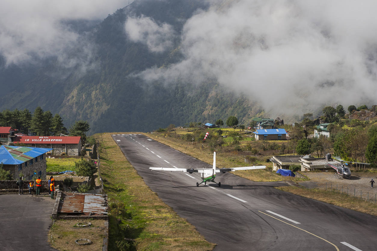 Why is the Lukla airport called an extreme airport?