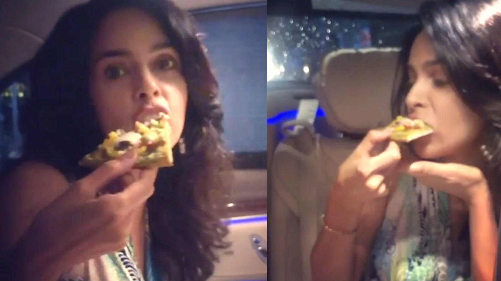 watch-mallika-sherawat-turns-her-car-into-a-cafe-amidst-the-lockdown-binges-on-vegan-pizza-with-her-girls