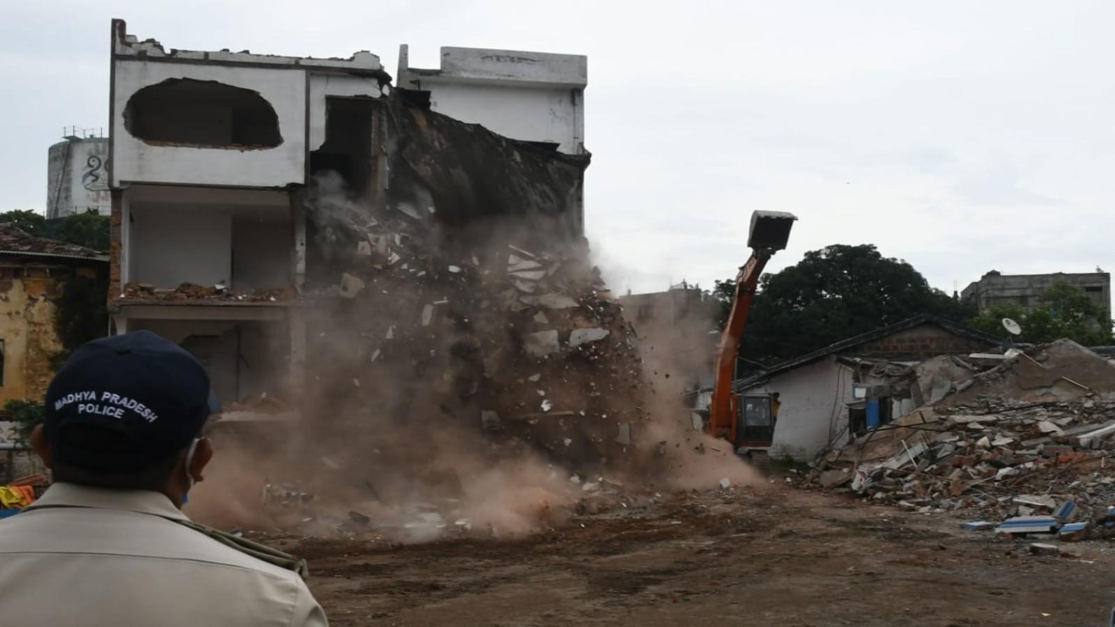 bhopal-building-belonging-to-journalist-accused-of-rape-running-sex-racket-razed
