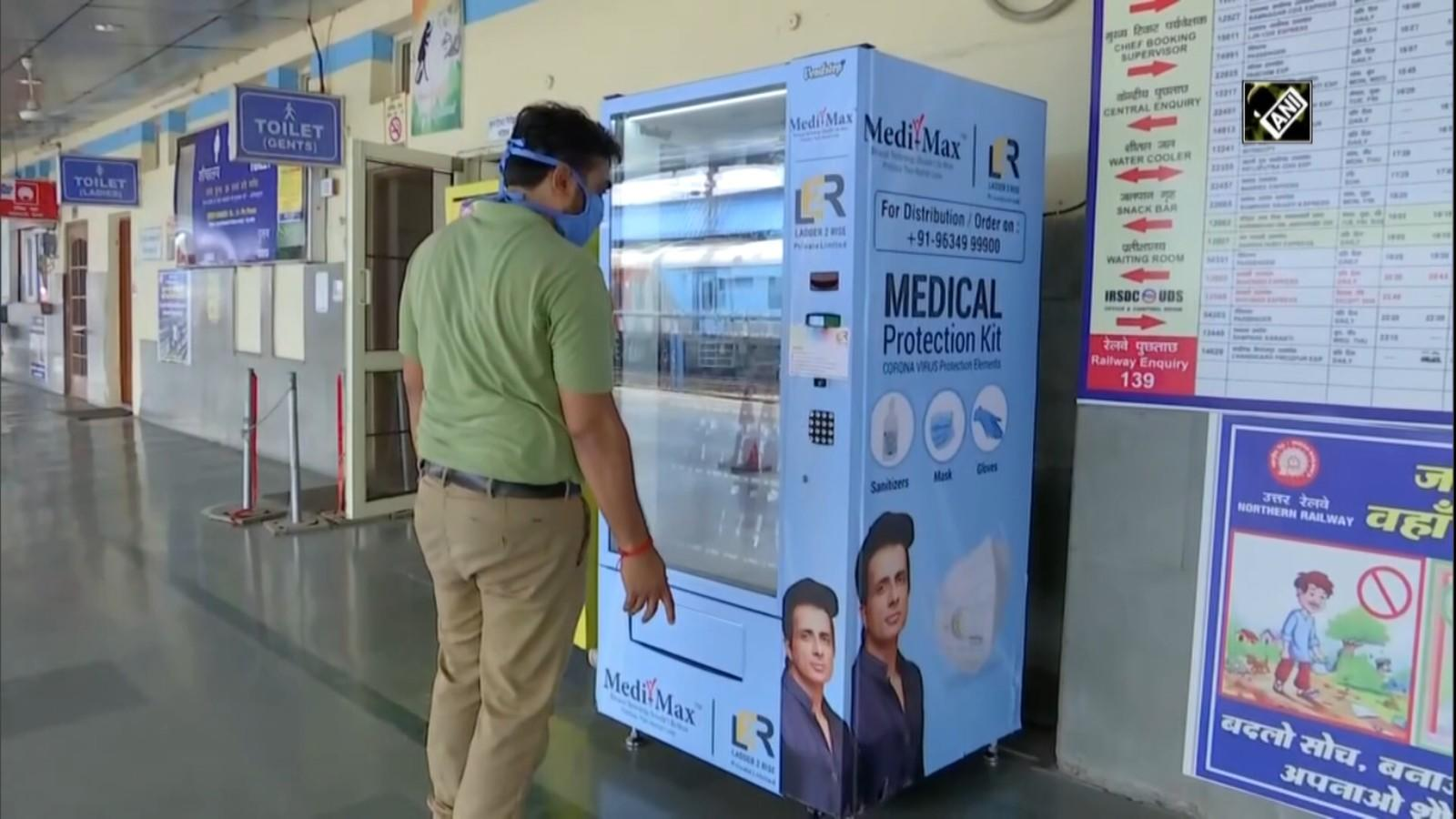 Covid 19 Automatic Vending Machine For Masks Sanitizers Installed At Chandigarh Railway Station City Times Of India Videos