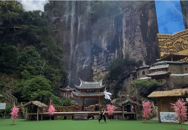 A place where tourists gets wings to fly in the air and perform stunts like shaolin monks