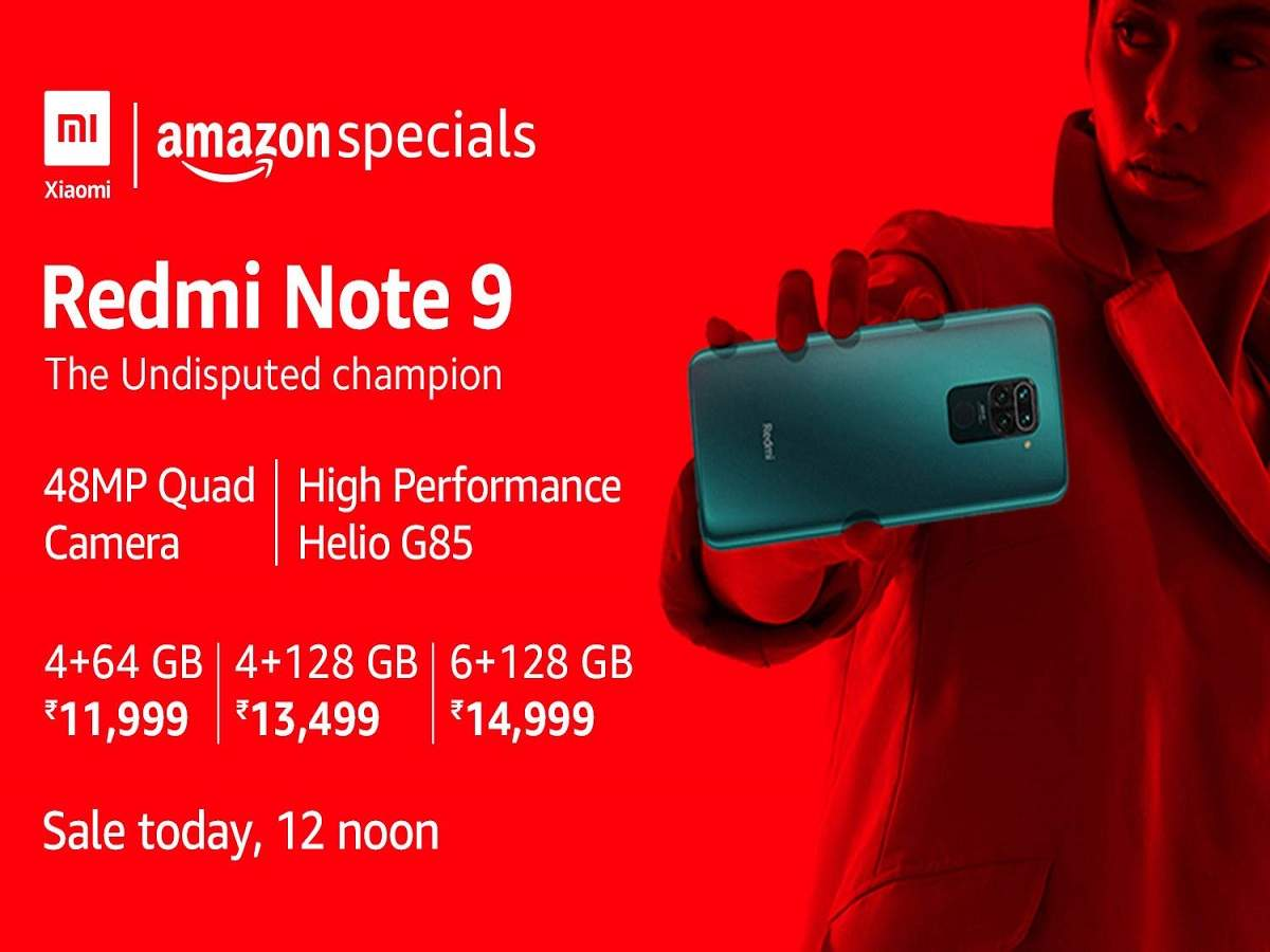 Redmi Note 9 Sale Goes Live On Amazon Price Specifications Here Most Searched Products Times Of India