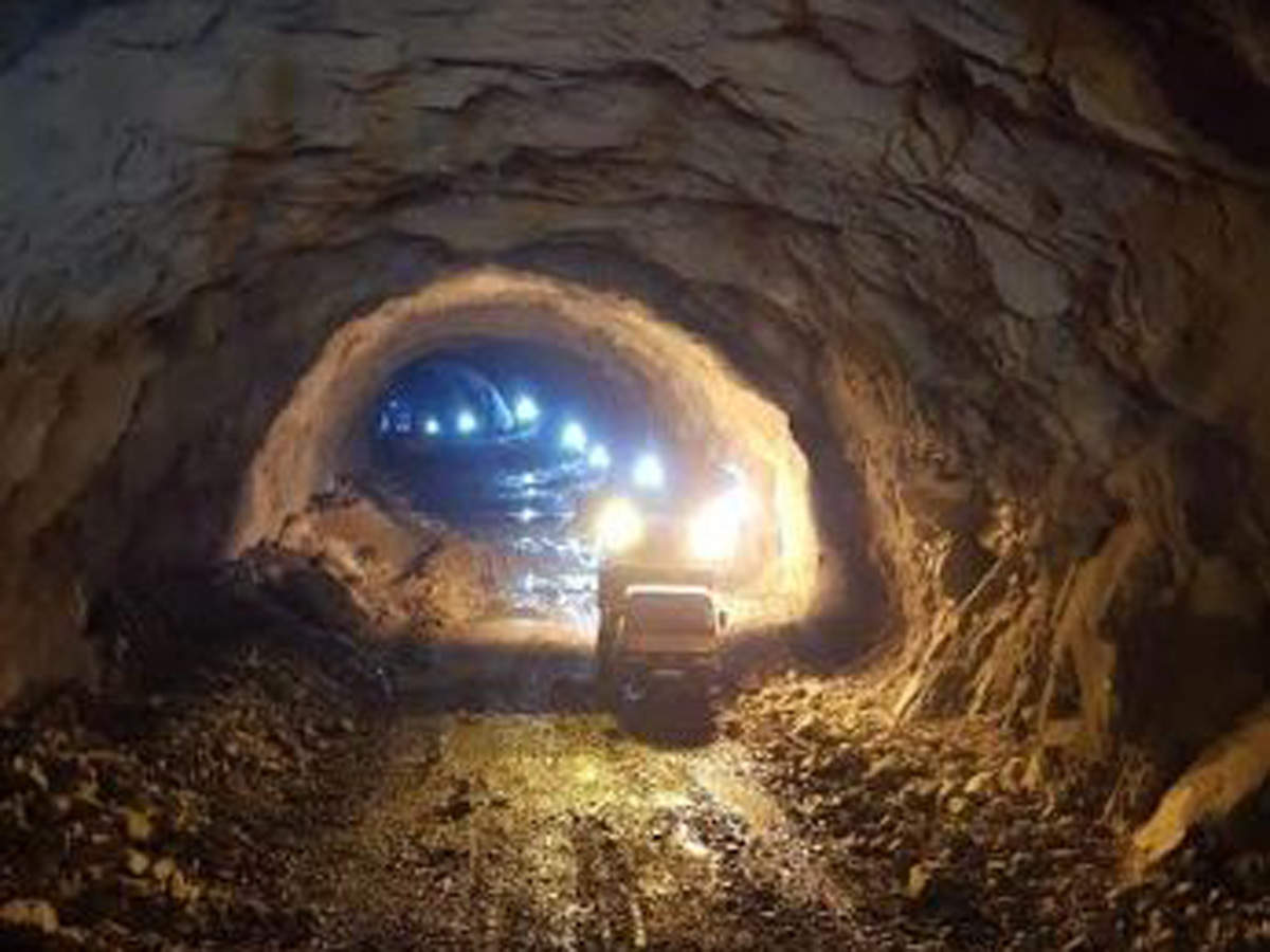 1 km tunnel built through Aravalis for freight train movement ...