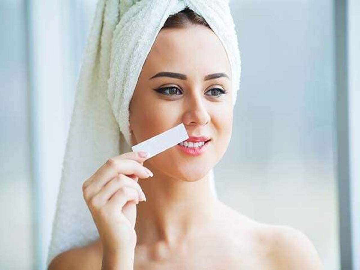 Facial Wax Strips Get Rid Of Unwanted Facial Hair In Minutes
