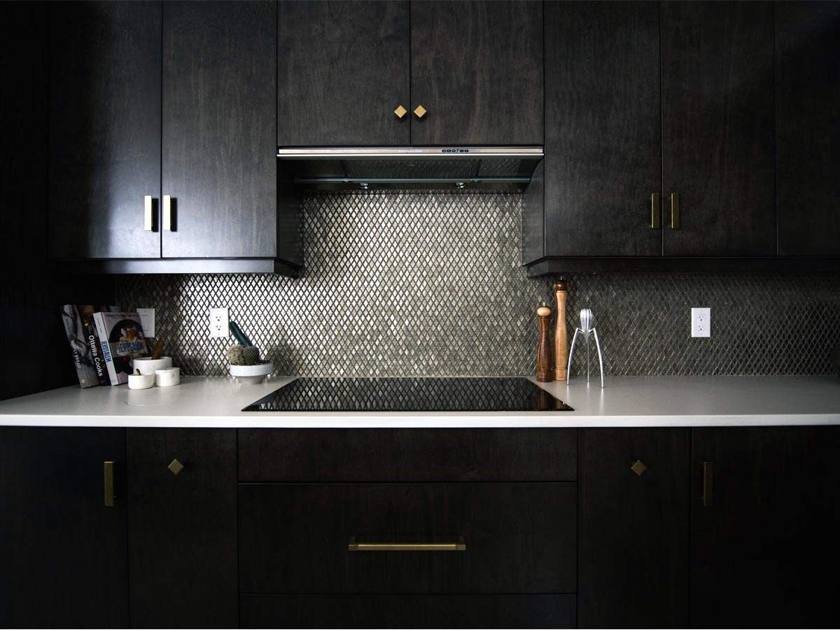 Add a pop of shine to kitchen cabinets with metallic hardware ...