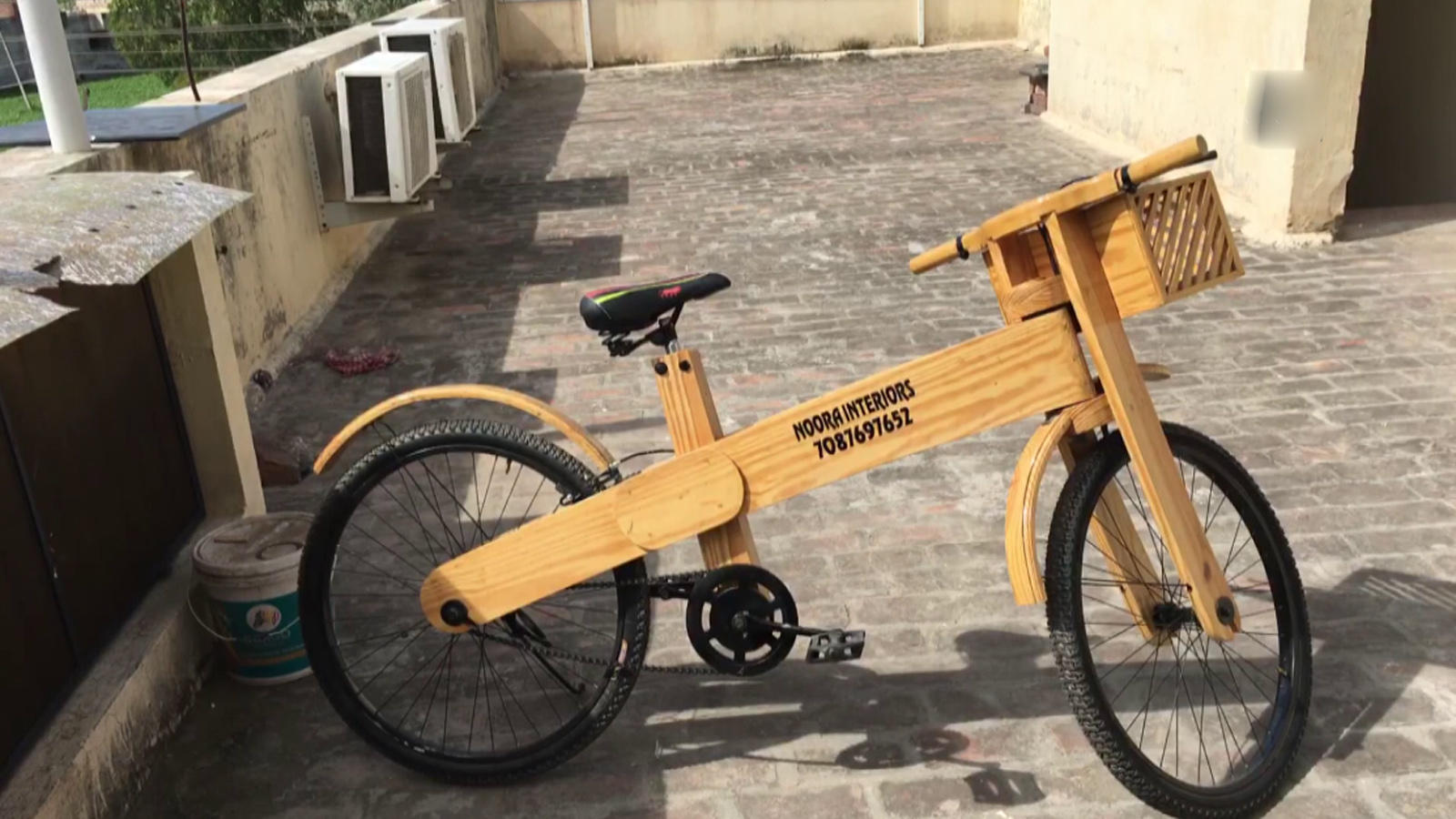 Eco-Friendly Wooden Bicycle