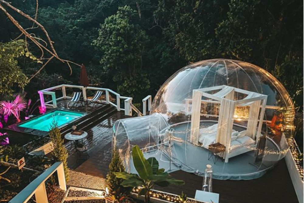 A transparent bubble-shaped room in Puerto Rico is meant for fantasy-loving guests
