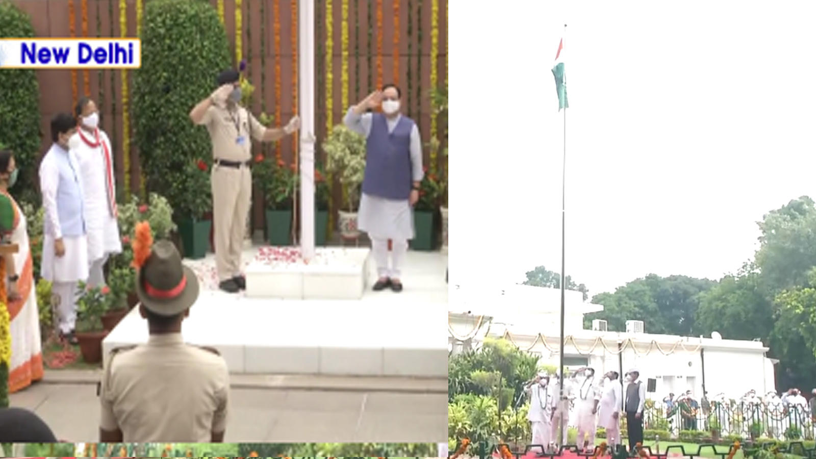 74th-independence-day-tricolour-hoisted-at-bjp-congress-hqs