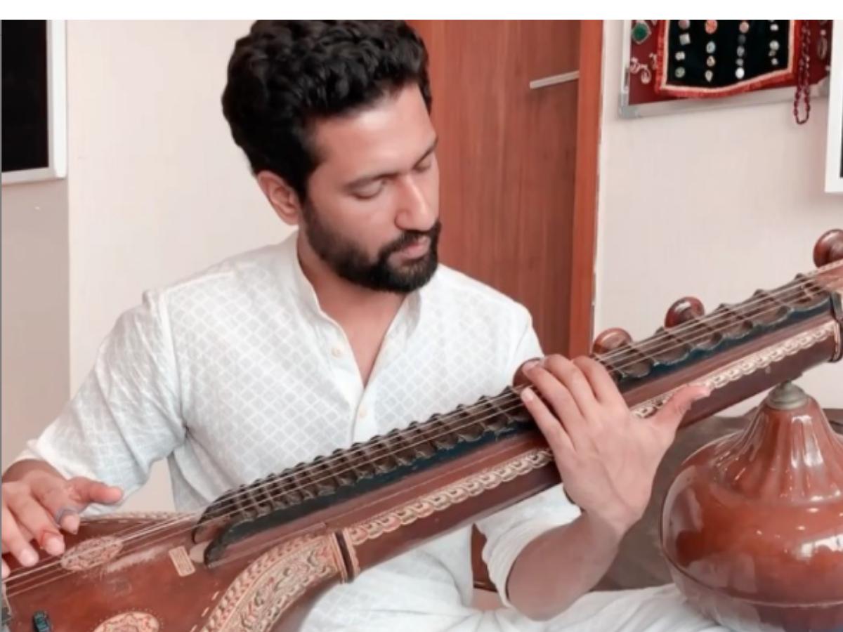 Watch: Vicky Kaushal plays sitar