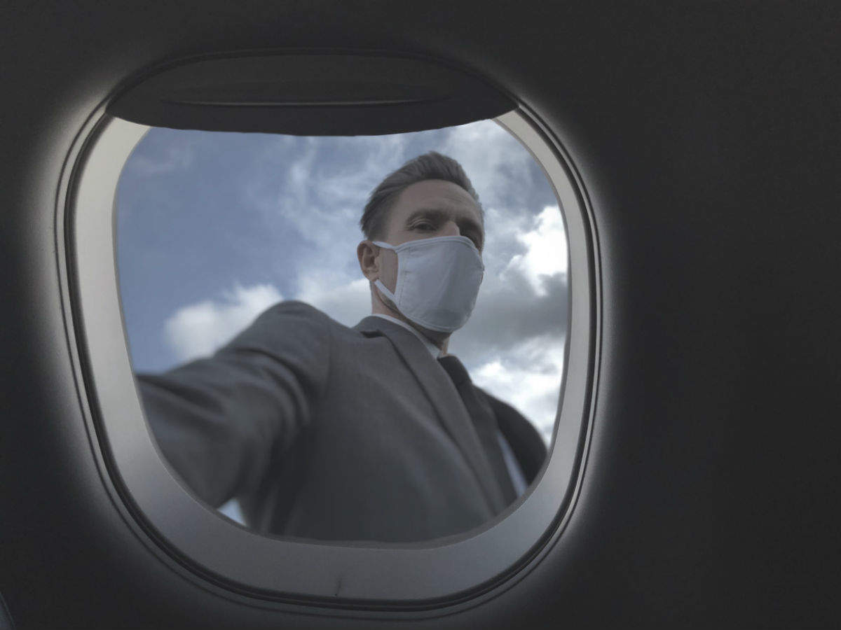 Why has an airline company banned a certain type of mask?