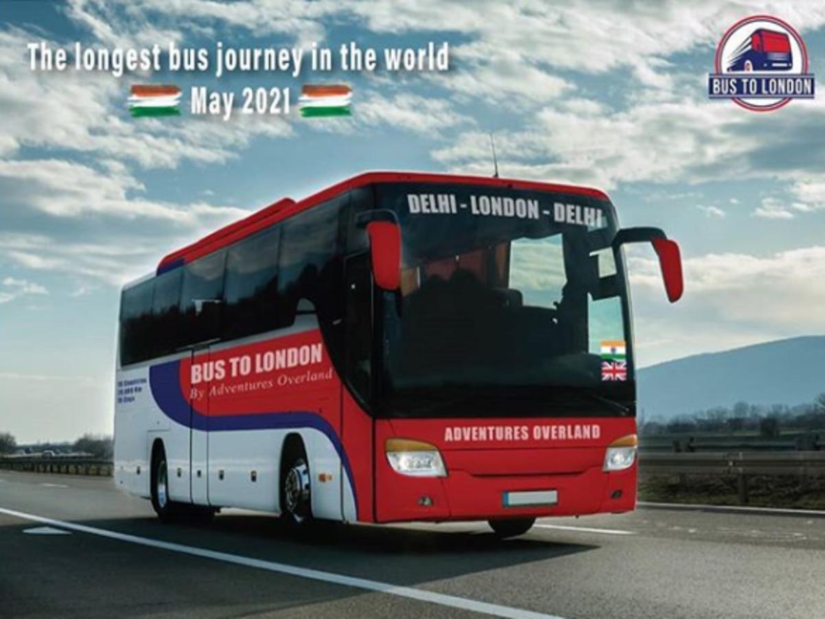 Delhi to London—World's longest bus voyage to start in 2021