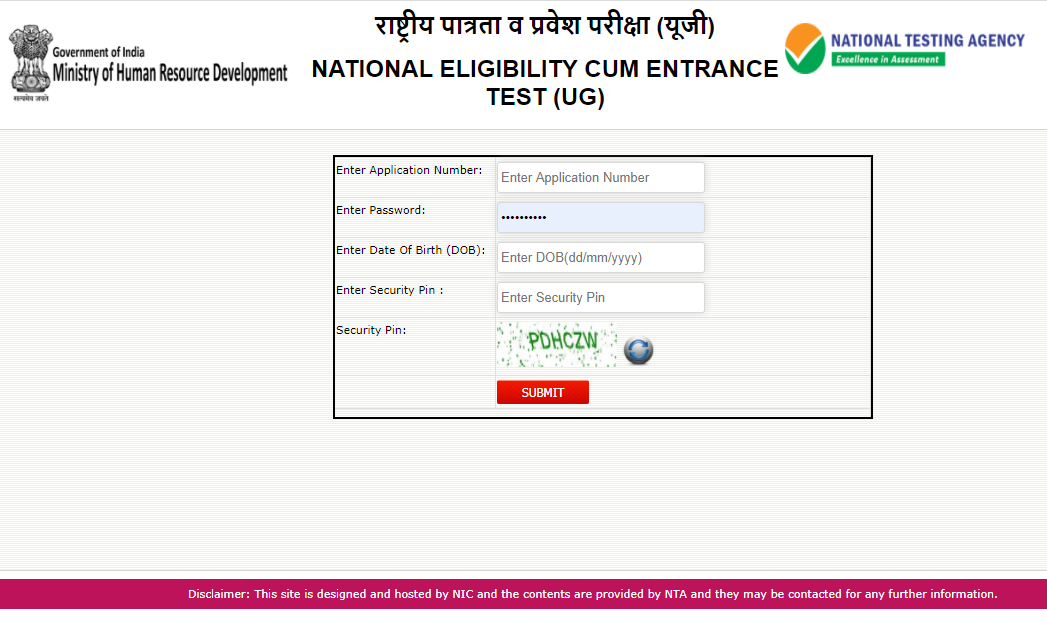 Neet Admit Card Nta Neet 2020 Admit Card Released Ntaneet Nic In Download Link Here