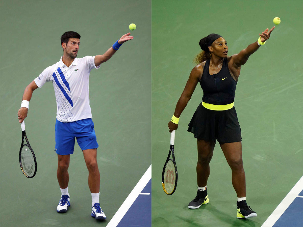 Us Open Novak Djokovic And Serena Williams Going For History Tennis News Times Of India