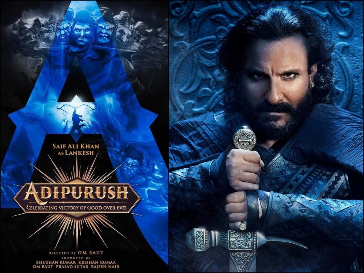 Saif Ali Khan steps into the antagonist's role of Lankesh in Prabhas'  Adipurush   Telugu Movie News - Times of India