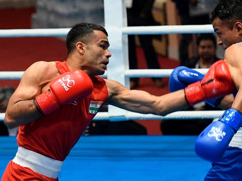 Boxer Vikas Krishan eyes pro bouts in USA to prepare for Olympics | Boxing  News - Times of India