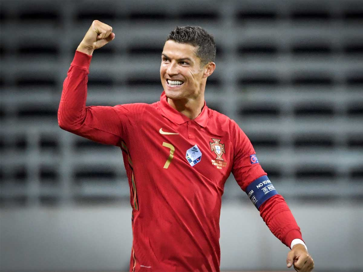 Cristiano Ronaldo Nations League Cristiano Ronaldo Nets 100th International Goal As Portugal Down Sweden Football News Times Of India