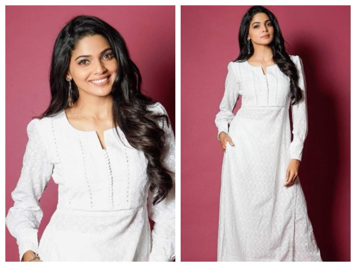 Pooja Sawant looks undeniably gorgeous in a white ethnic outfit ...