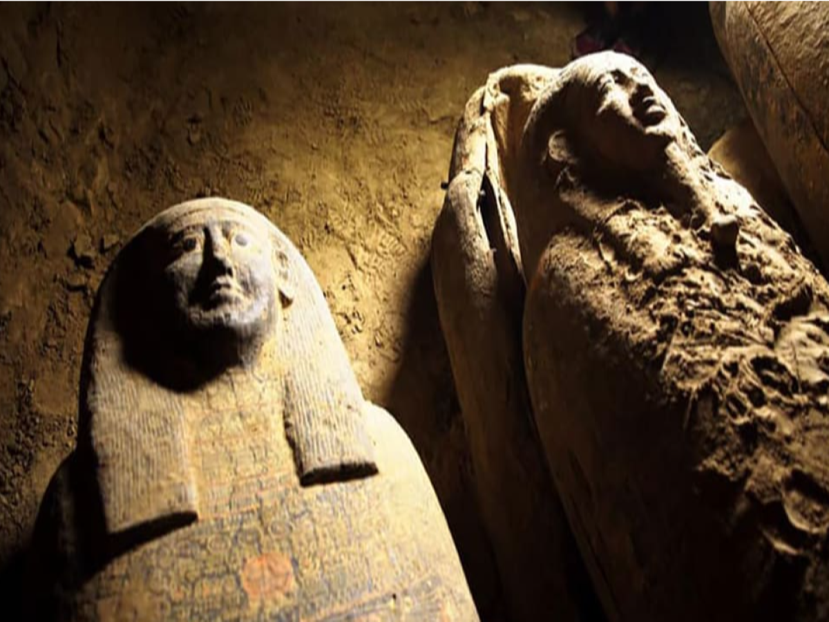 13 coffins, believed to contain 2500 years old mummies, unearthed in Egypt!