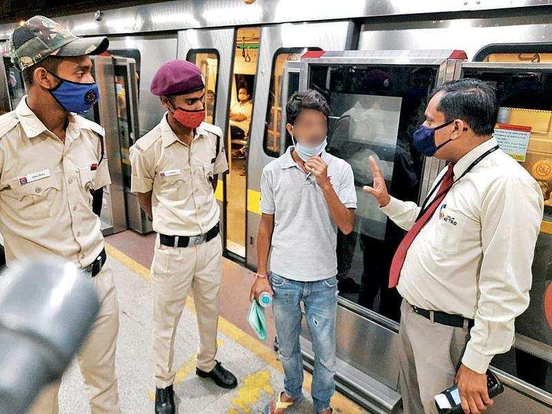 Delhi: After pleas don't work, DMRC fines violators | Delhi News - Times of  India