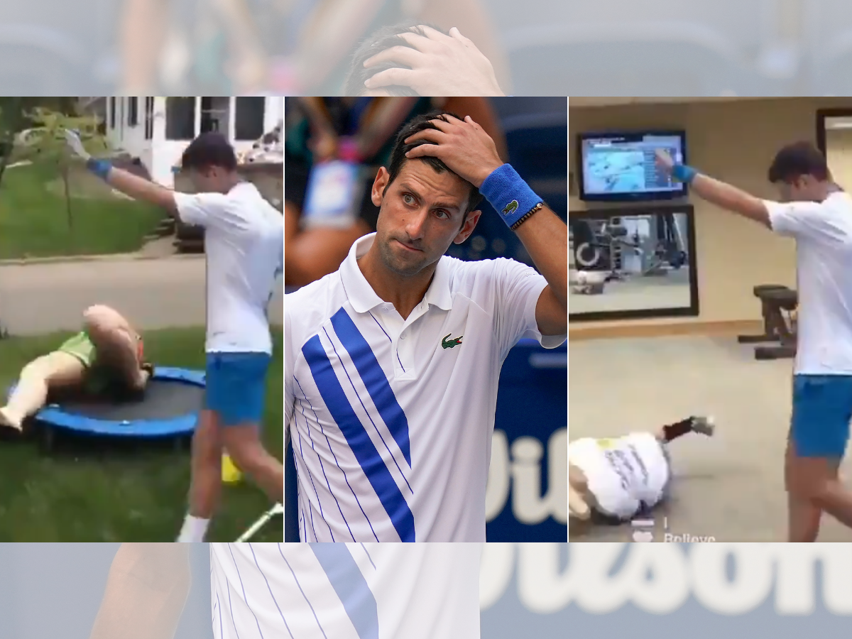 Novak Djokovic And His Disqualification From Us Open This Hillarious Video Tells You A Different Story Times Of India
