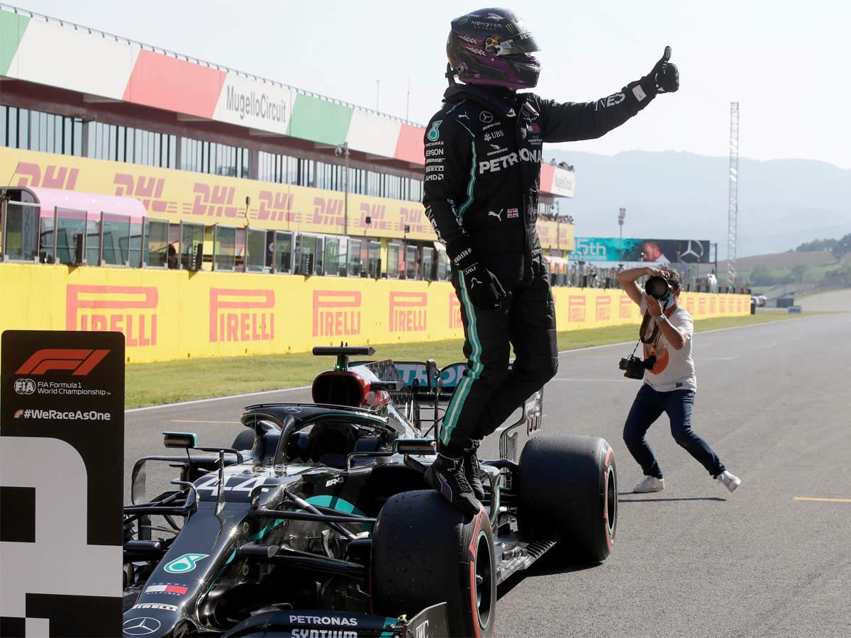 F1 Hamilton Powers To Pole At Tuscan Grand Prix Racing News Times Of India