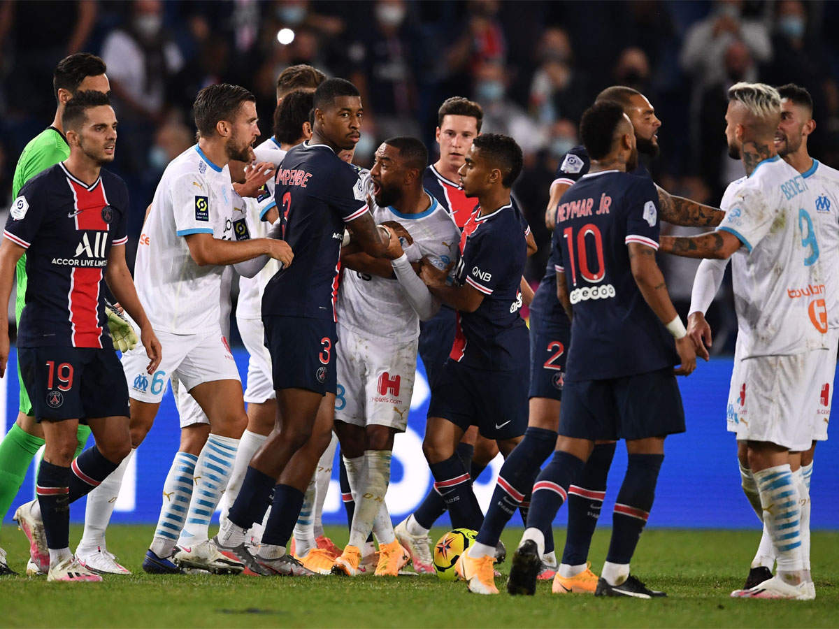 Neymar Among Five Sent Off As Marseille End Long Psg Curse Football News Times Of India