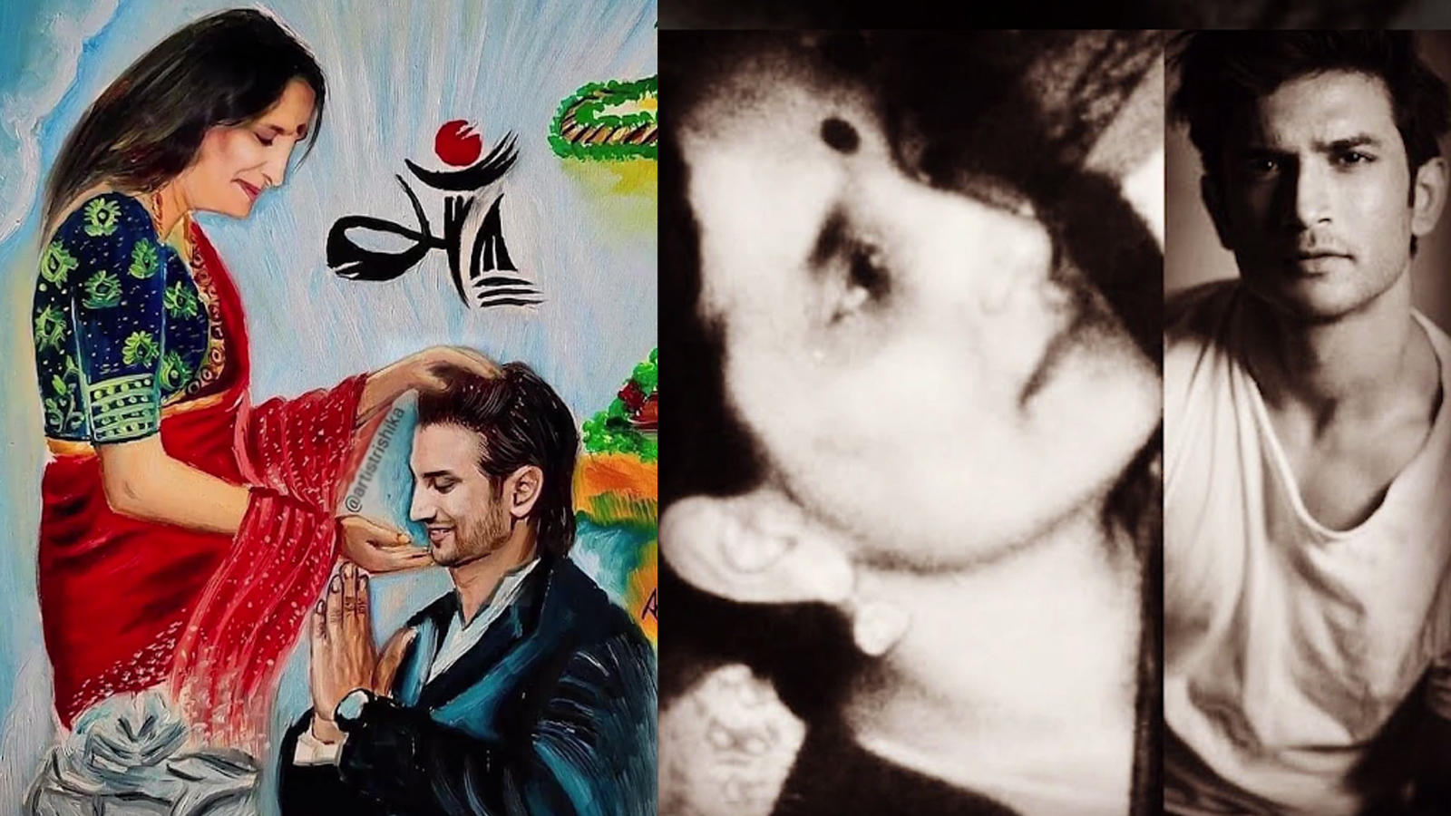 meetu-singh-shares-a-fan-art-of-sushant-singh-rajput-with-his-mother-leaving-fans-teary-eyed-writes-unable-to-cope-up-with-this-heart-wrenching-loss