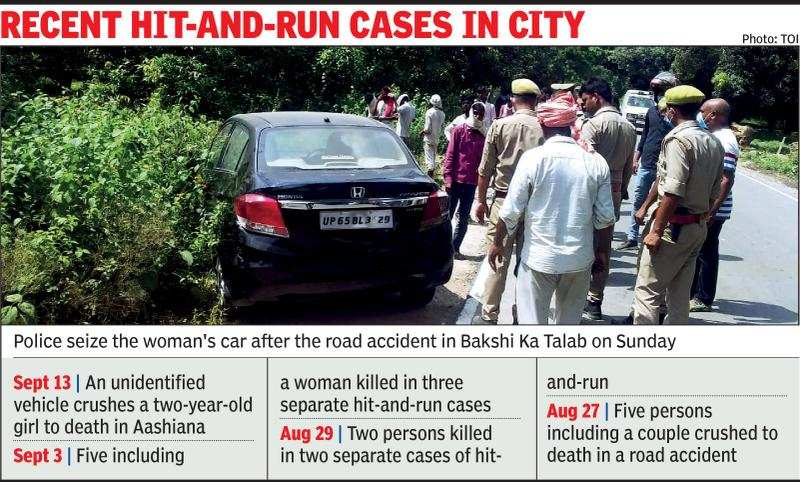 Lucknow Woman Car Driver Runs Over Five Labourers On The Roadside One Dies Lucknow News Times Of India