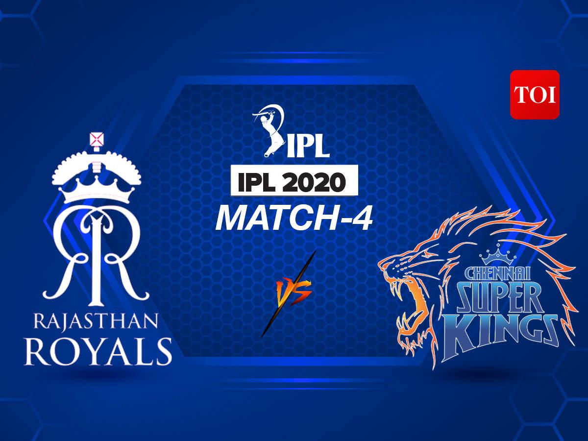IPL 2020 Live Score: Rajasthan Royals vs Chennai Super Kings