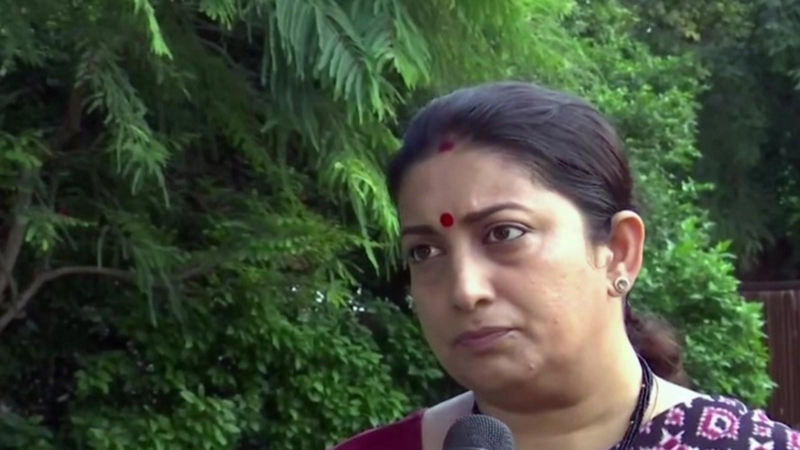 modi-govt-committed-to-implementing-swaminathan-commission-report-smriti-irani