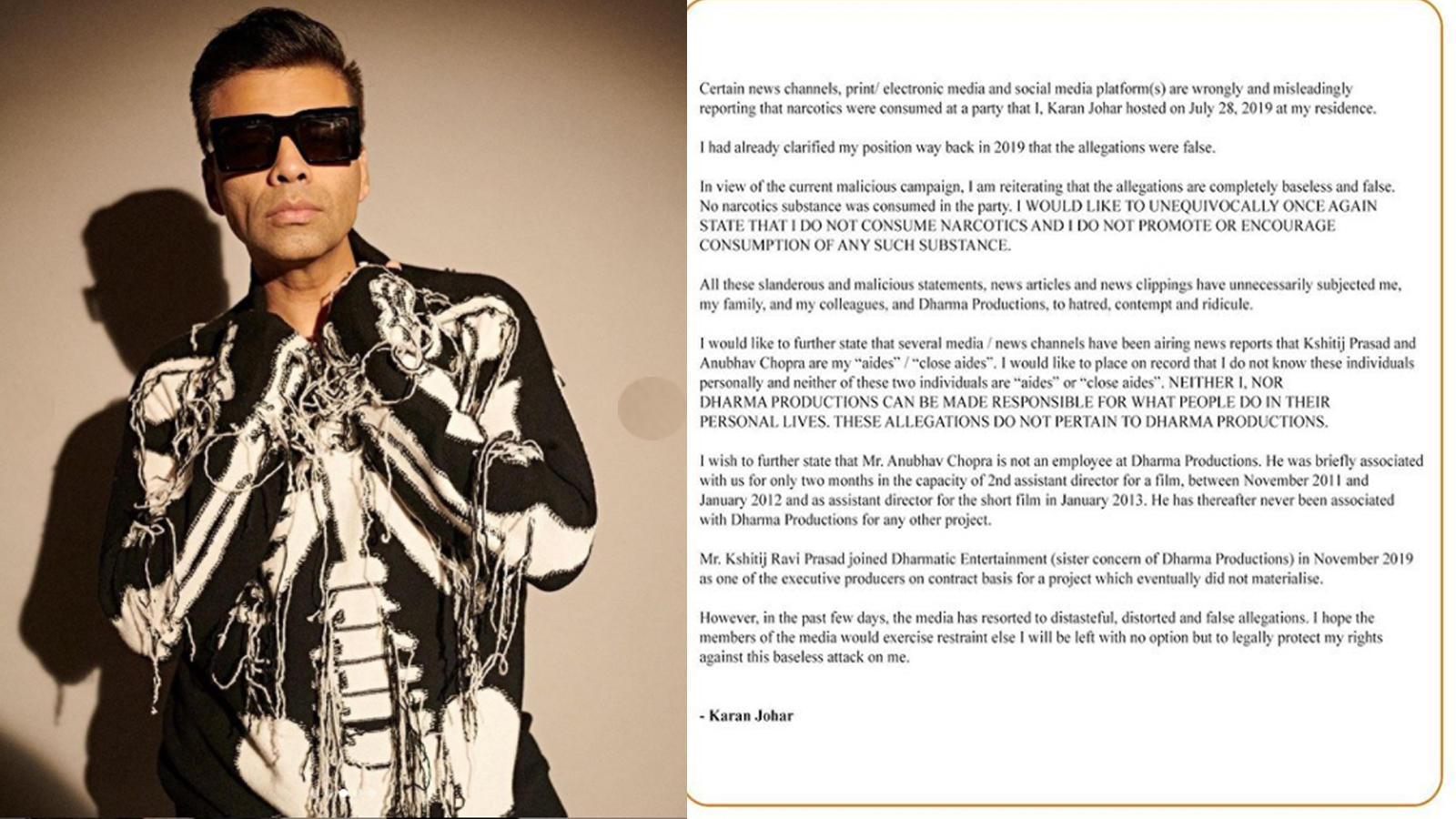 karan-johar-issues-statement-warns-media-of-taking-legal-action-for-maligning-his-image