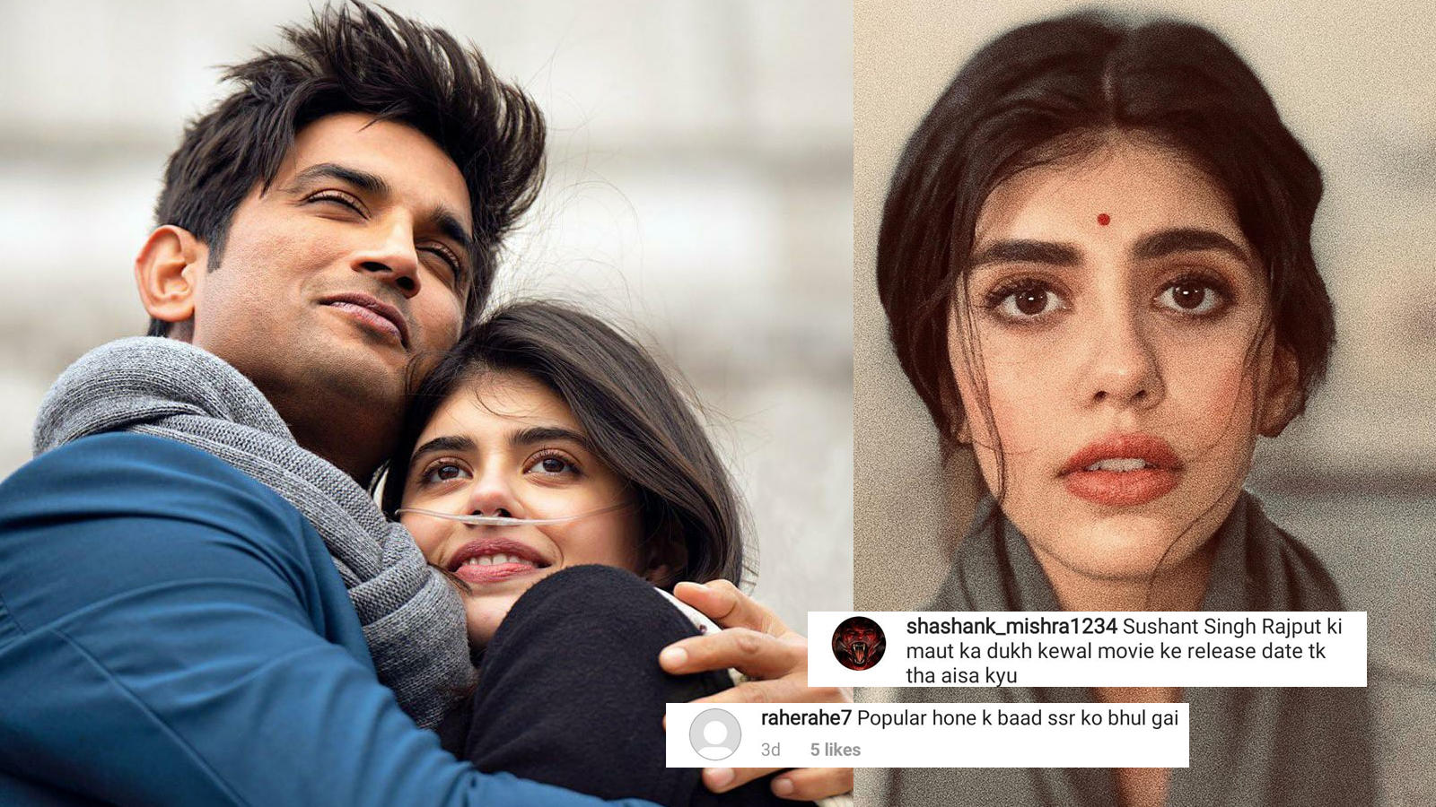 sanjana-sanghi-slammed-by-netizens-for-completely-forgetting-sushant-singh-rajput-after-movies-release