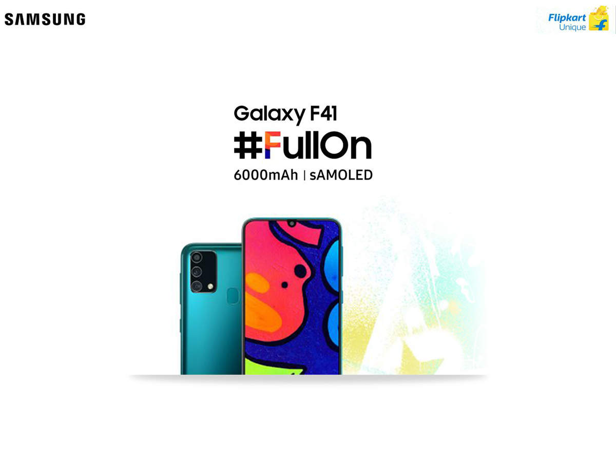 The Samsung Galaxy F41 Comes With A 6000mah Battery 64mp Camera And Samoled Display Meet The Fullon Phone That Will Blow Your Mind Times Of India